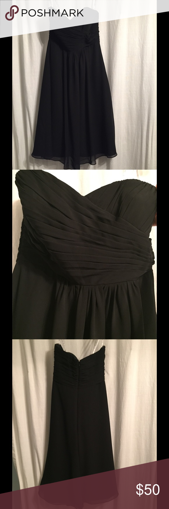 Black cocktail dress Simple beautiful and flowy cocktail dress. Great dress for a lot of occasions. Dresses Strapless