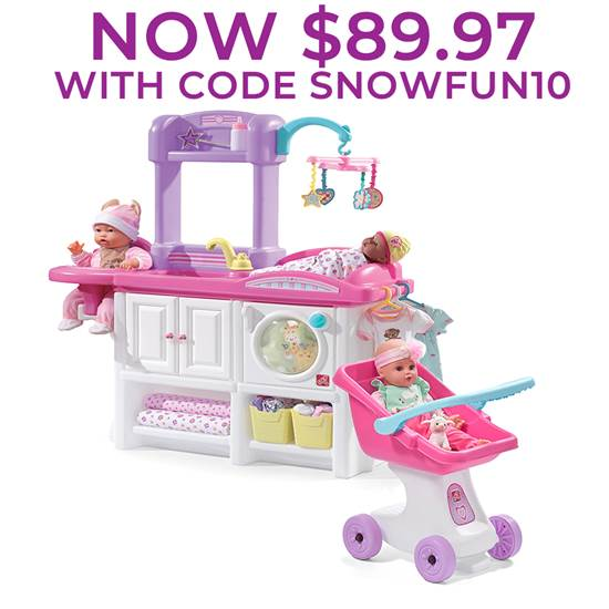 Love and Care Play Set Playset, Step2, Baby dolls