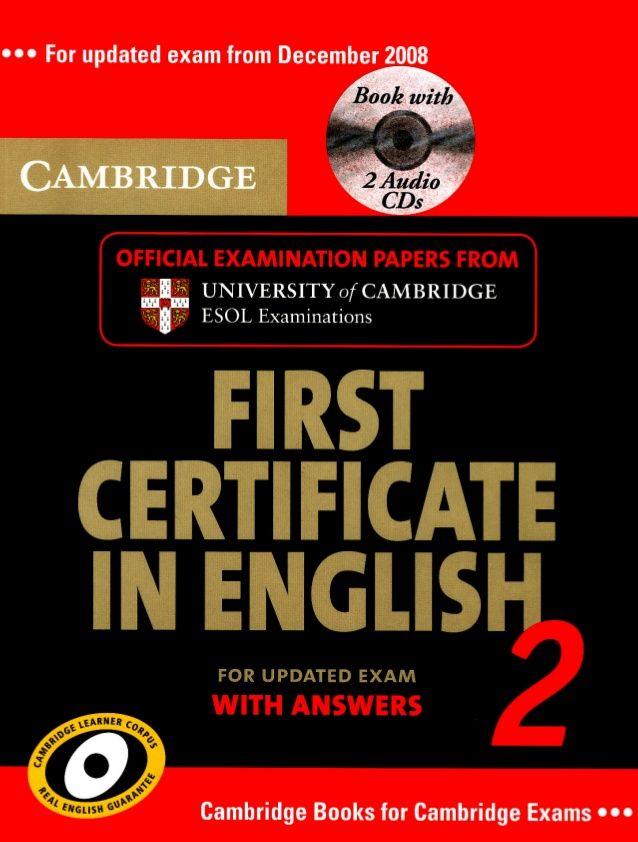 Cambridgefirstcertificateinenglish2 Englisch Englisch Lernen Cambridge