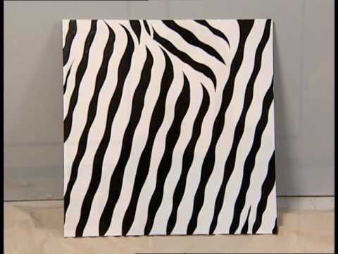 DIY zebra painting