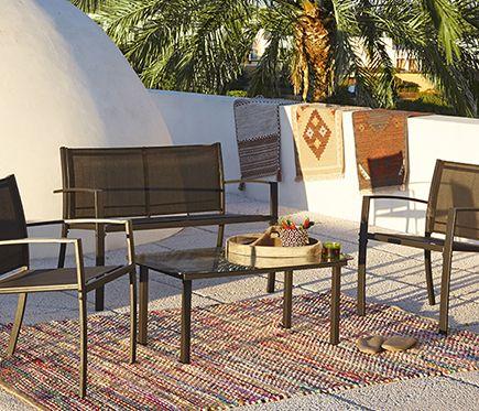 Set De Acero Y Textileno Laredo Muebles De Exterior Muebles