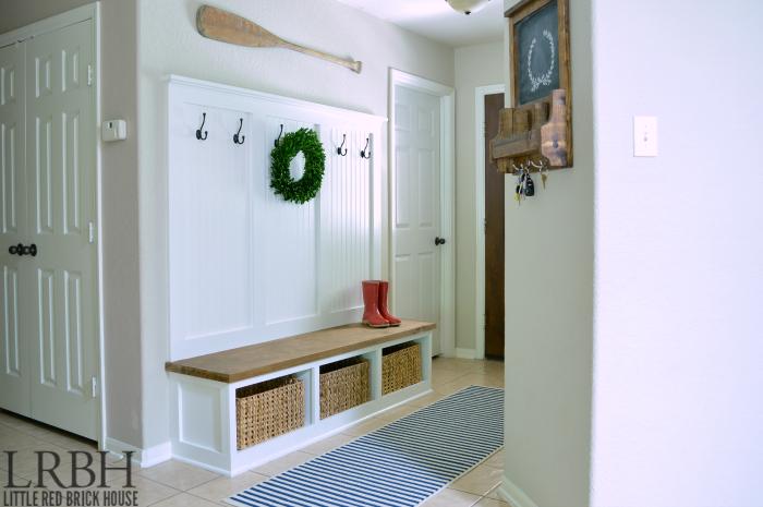 DIY Entryway Mudroom Reveal   Decoracion interior, Hogar y Para el hogar