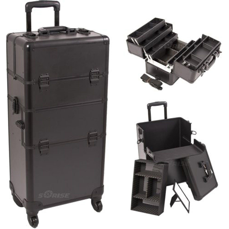 335 Inch Pro Black Interchangable Series Cosmetic Train Case Beauty