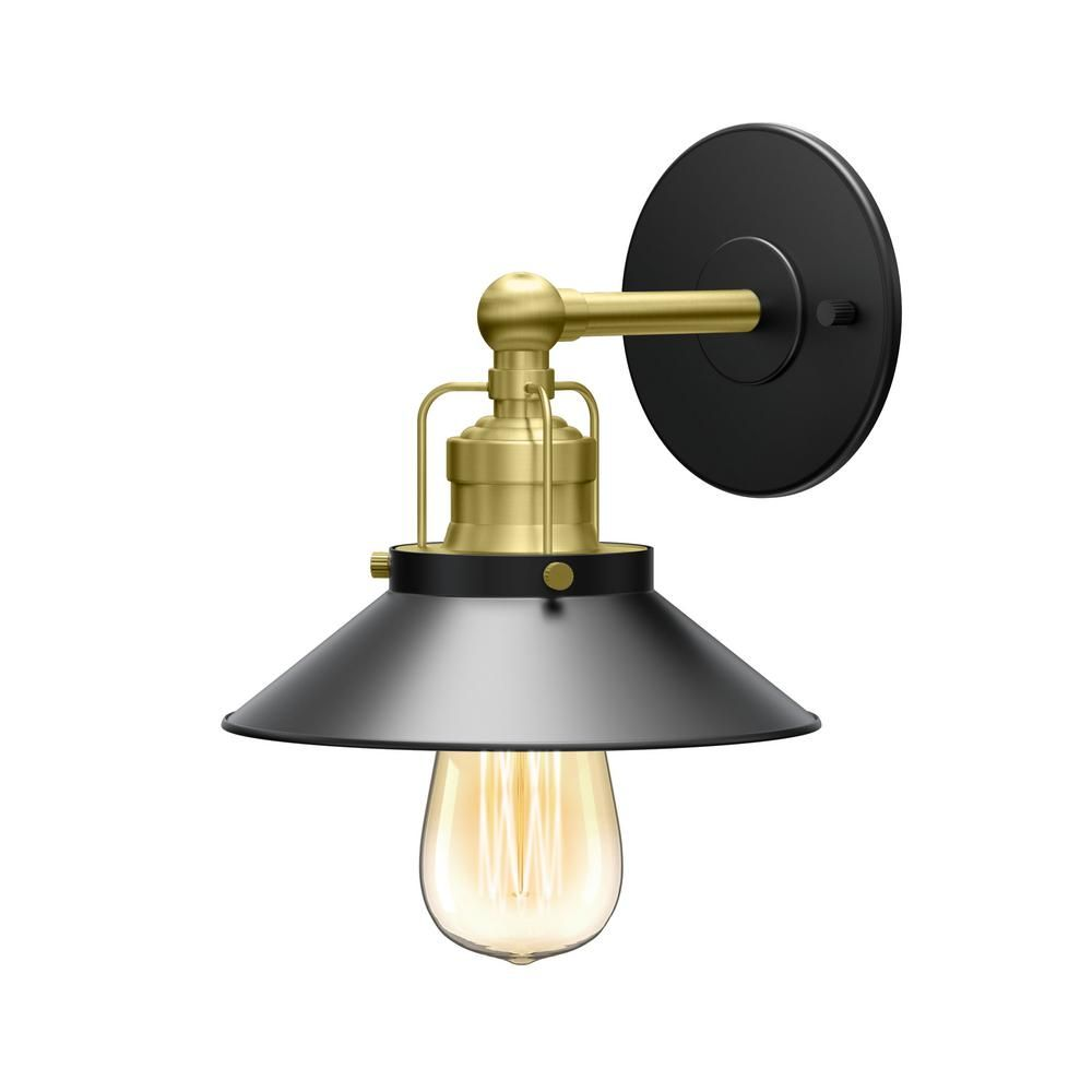 Photo of Gatco Modern Farmhouse Retro 1-Light Chrome Metal Sconce-1710 – The Home Depot