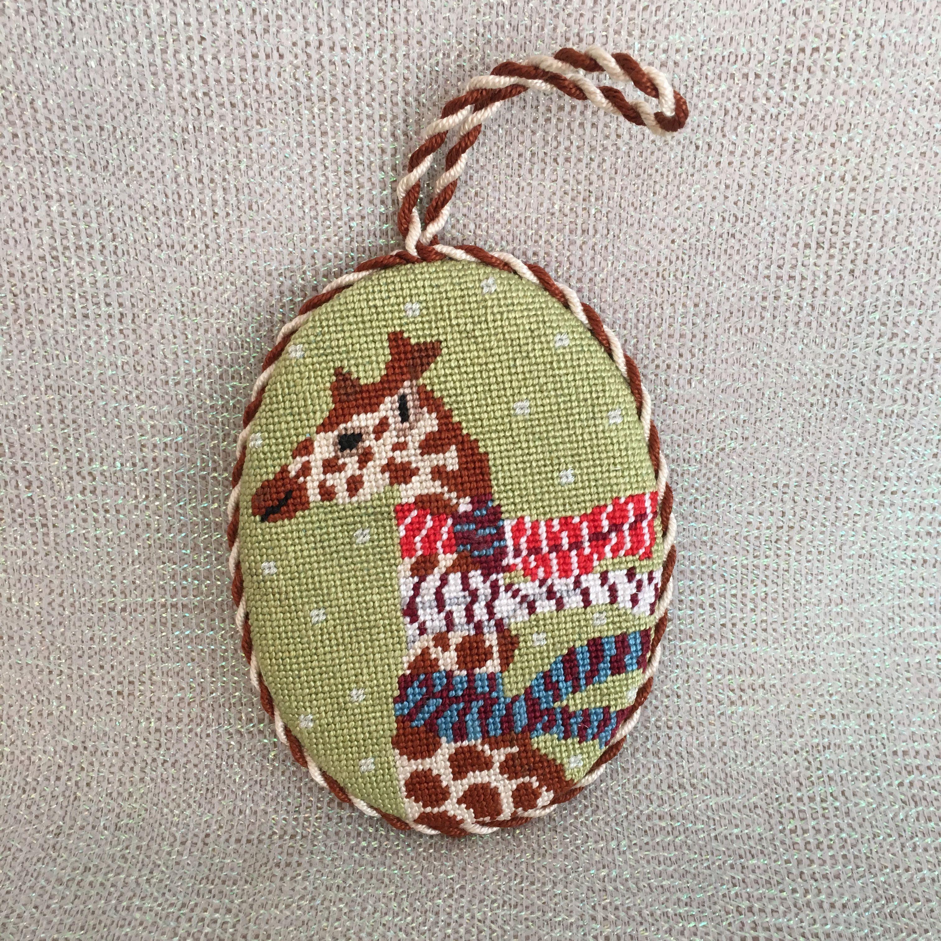 Natures Quail Needlepoint Christmas Ornament DIY Canvas