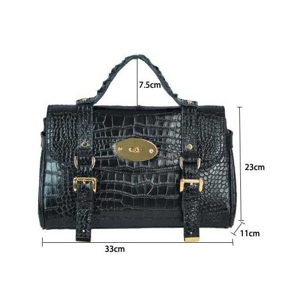Vintage Alligator Calfskin Rotating Buckle Women Messenger Bag - Cross... ($171) via Polyvore