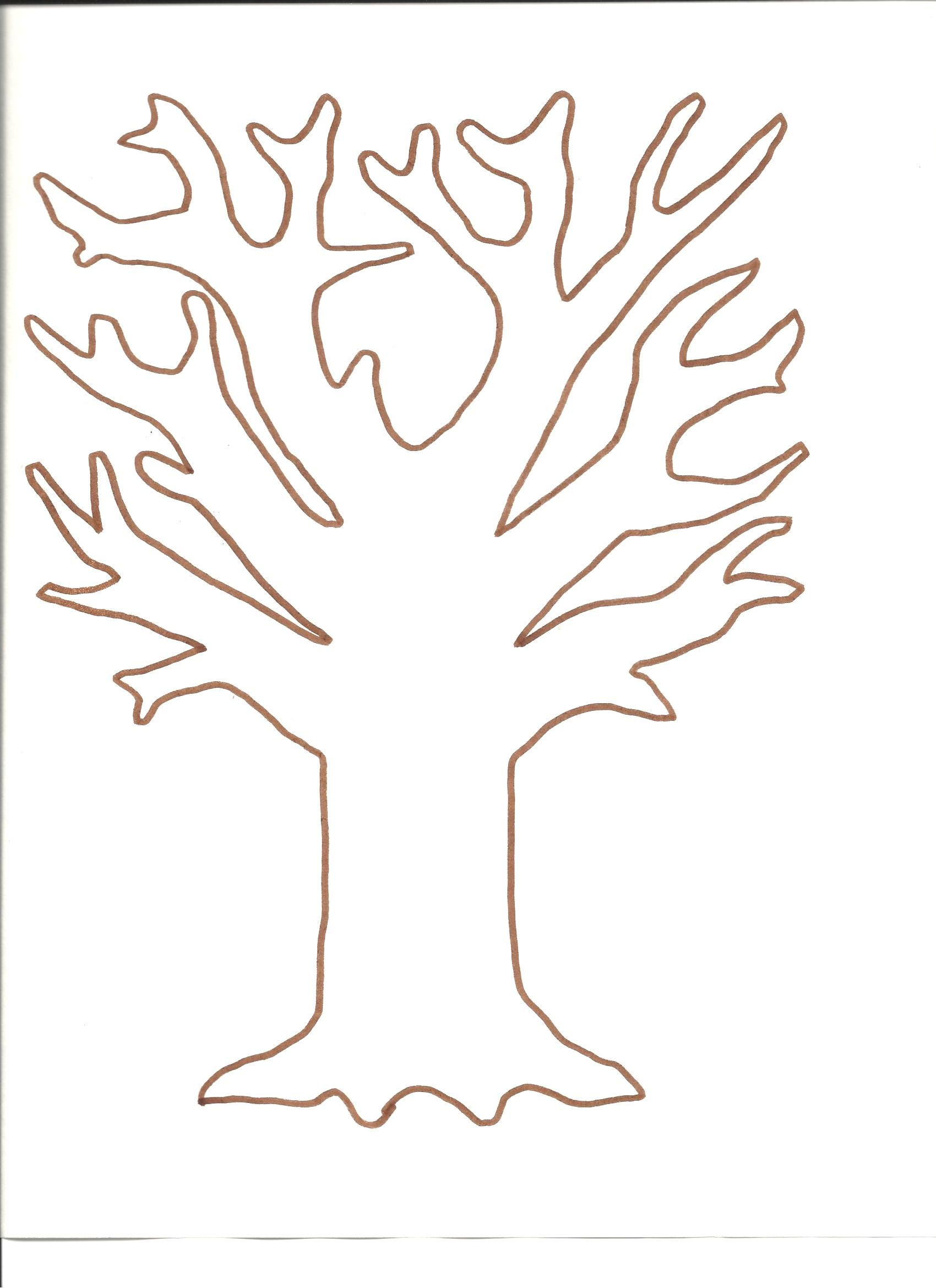 Tree template for fingerprint and tissue paper tree http://www.