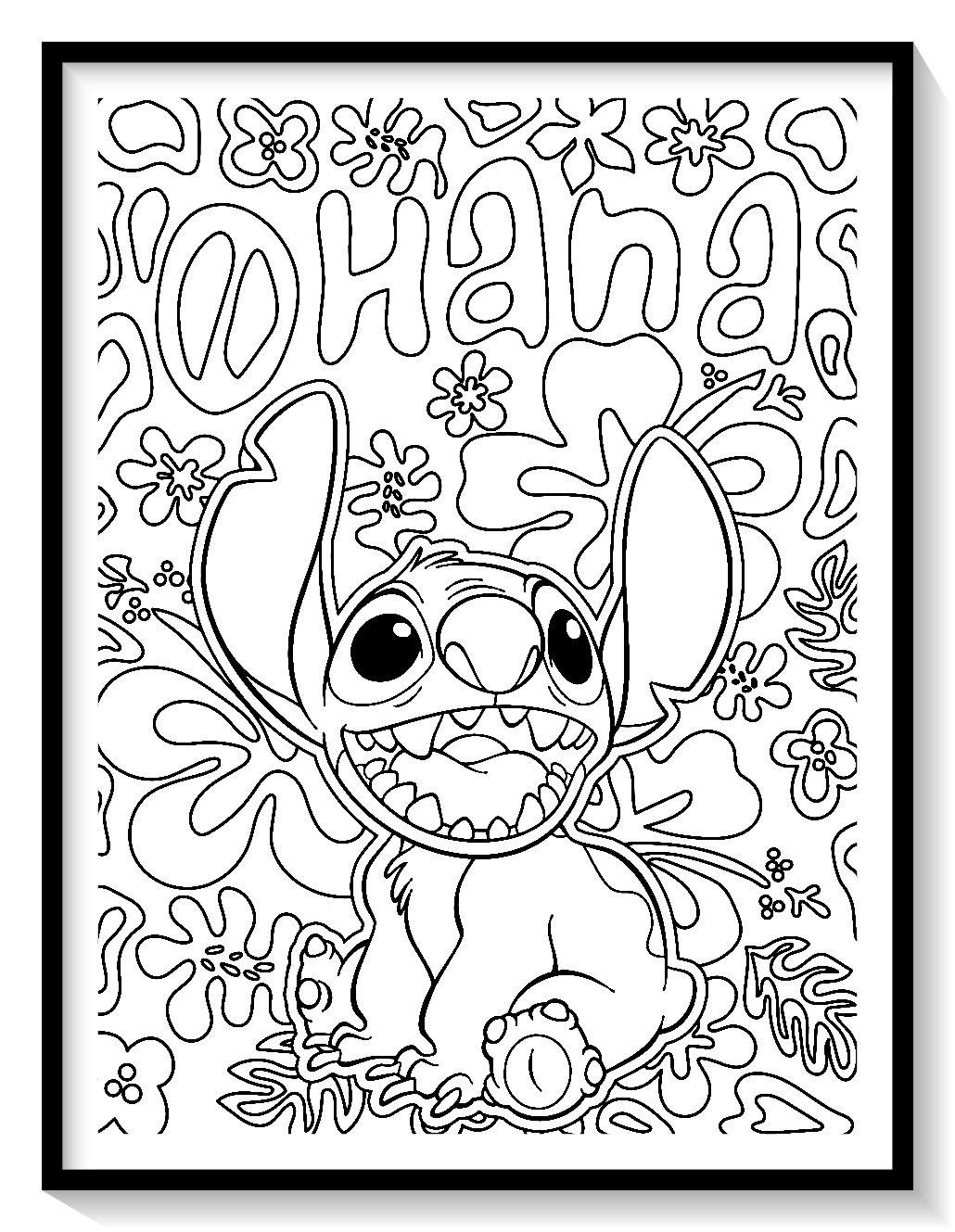 Pin on Dibujos de LILO Y STITCH para Colorear