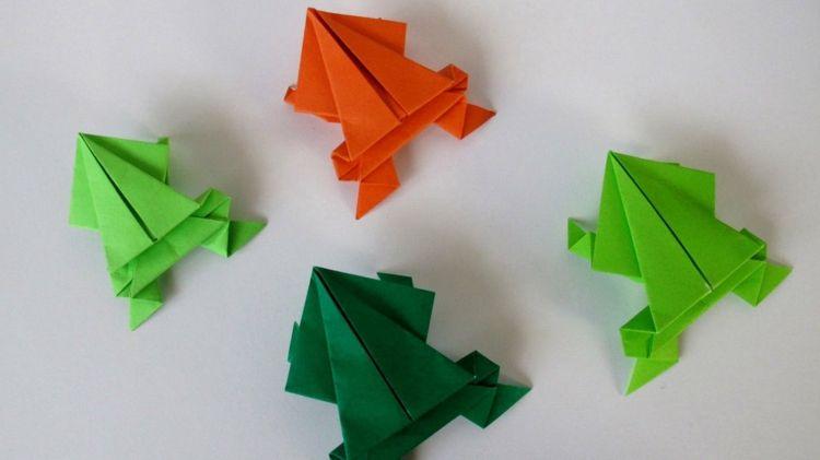 basteln origami tiere springen frosch spielzeug selber machen origami pinterest origami. Black Bedroom Furniture Sets. Home Design Ideas
