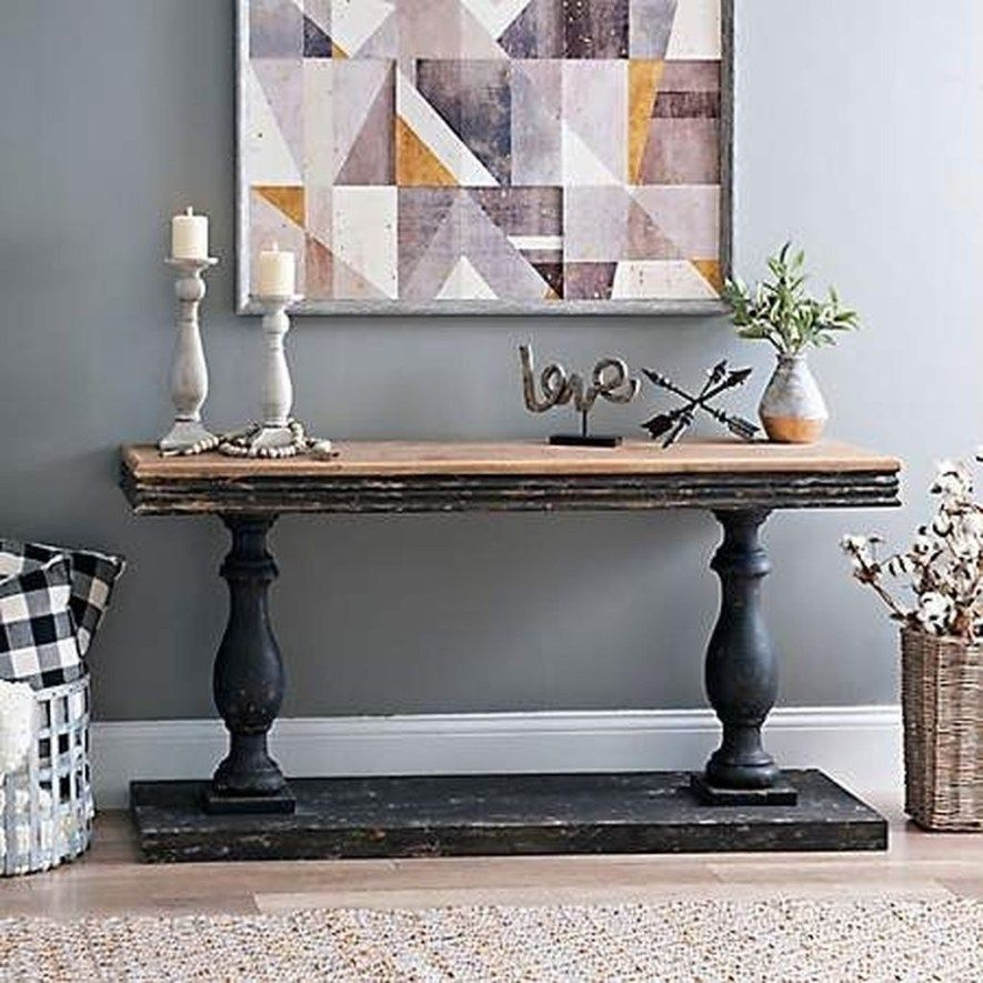 38 the best farmhouse console table design ideas on small entryway console table decor ideas make a statement with your home s entryway id=72778