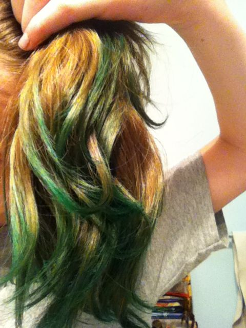 Kool Aid Hair Dye Mixed Blue And Green Kool Aid Into Some Boiling