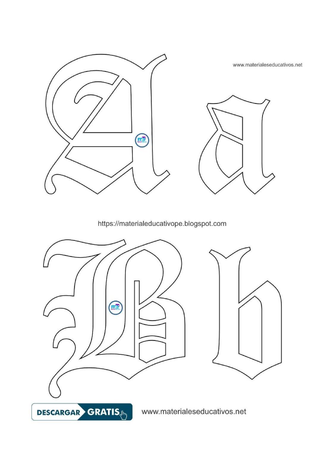 Moldes Plantillas Letras Goticas Letras Goticas Mayusculas Moldes De Letras Letras Mayusculas Y Minusculas