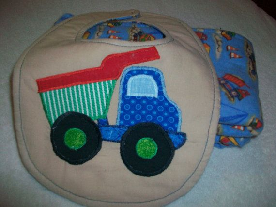 Baby Burp Cloth and Bib Set  Minky Burp Cloth by PeaPodLilFrogs, $24.95