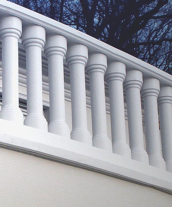 concrete cement balustrade, straight style / moderne beton ...