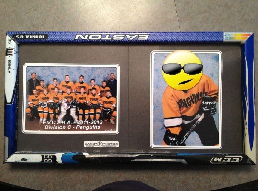Hockey stick picture frame   hockey hockey hockey   Pinterest   Ice ...