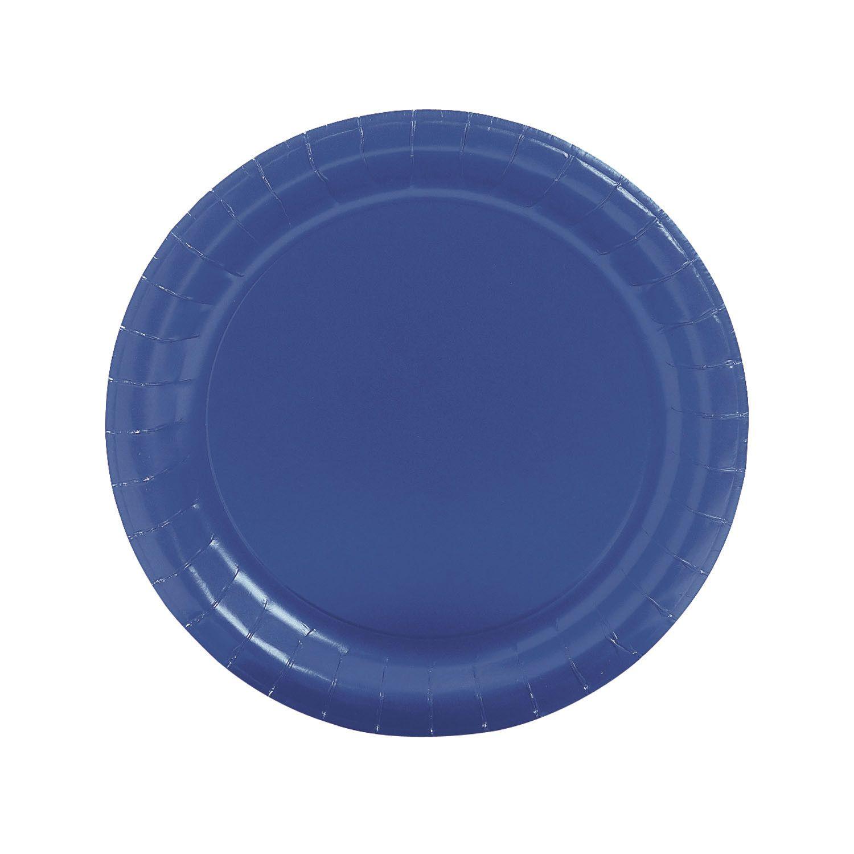 Paper Plates, 24 Pack, Round Dot NZ Shop Dinner plates