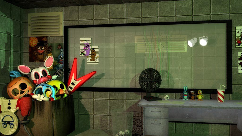 FNaF 3: Office by SucculentSoldier | FNAF | Fnaf, Desk fan