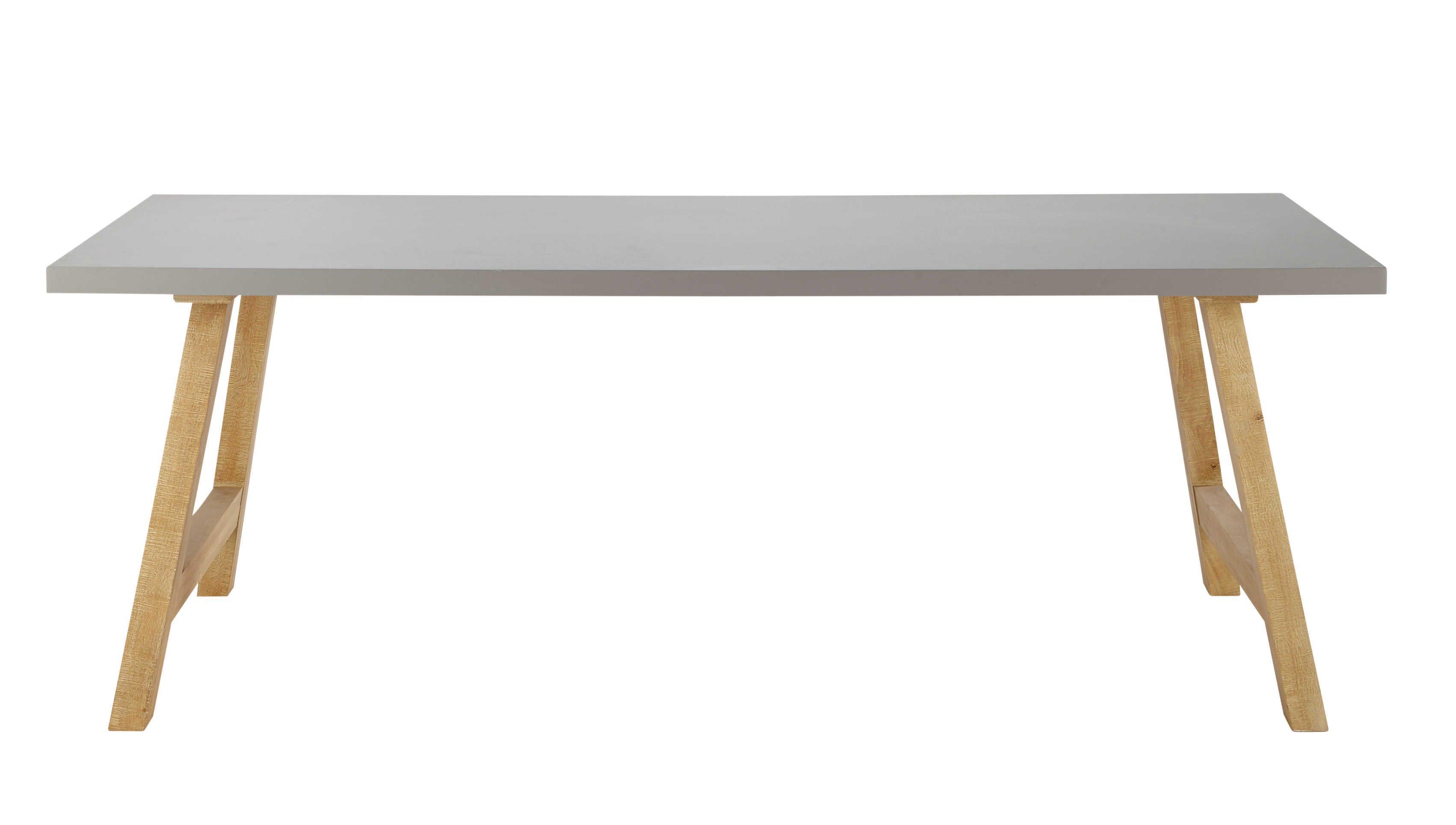 Table de salle à manger effet béton ciré L 220 cm Vermont | idée ...