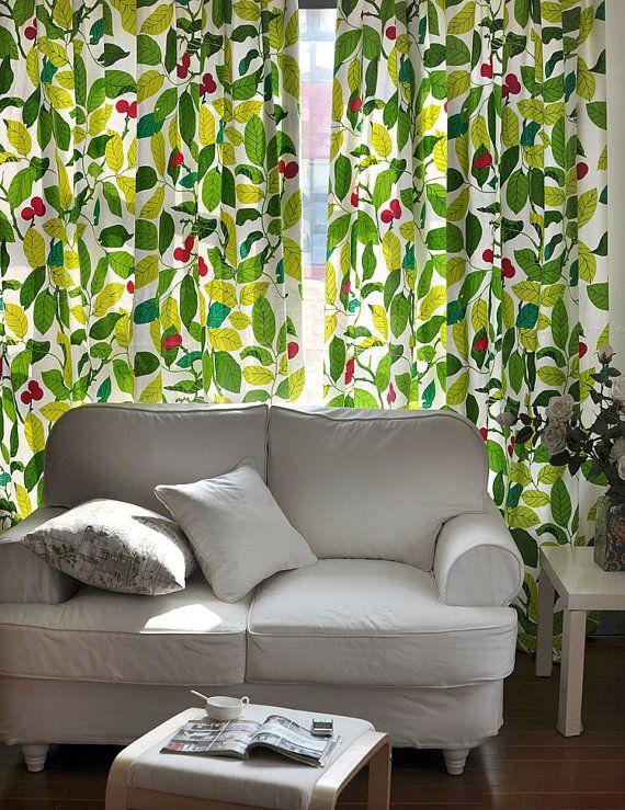 IKEA Stil grünen Leeves Vorhang Grommet Vorhänge, Wohn ...