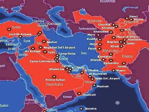 Military bases the U.S. currently has in the Middle East ...