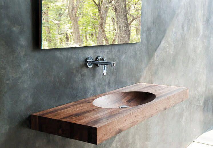 Wand Waschbecken Aus Holz Billie Karpenter Mit Bildern