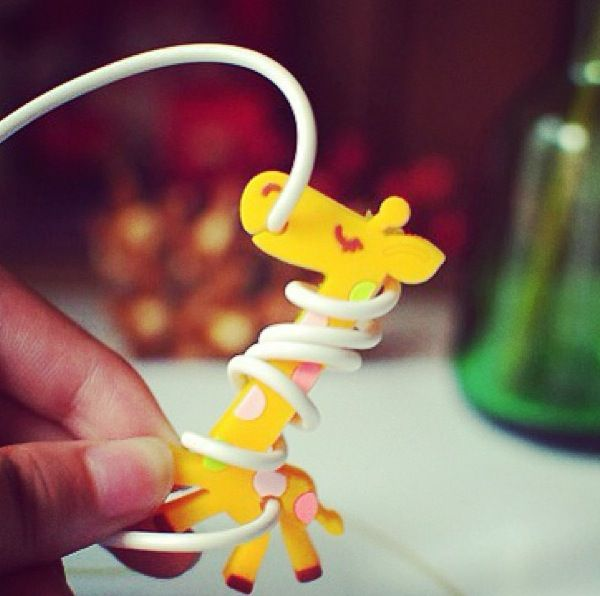Giraffe Earphone Tidy Laser Ideas Giraffe Cartoon