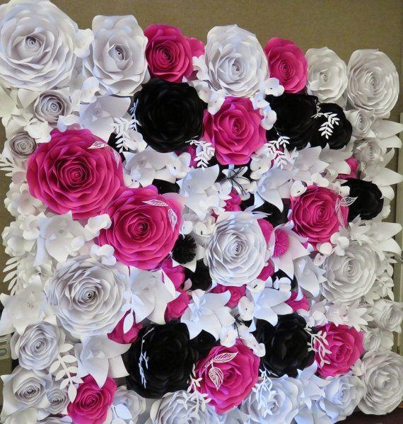 Paper flower wall paper flower backdrop perfect for weddings and paper flower wall paper flower backdrop perfect for weddings mightylinksfo