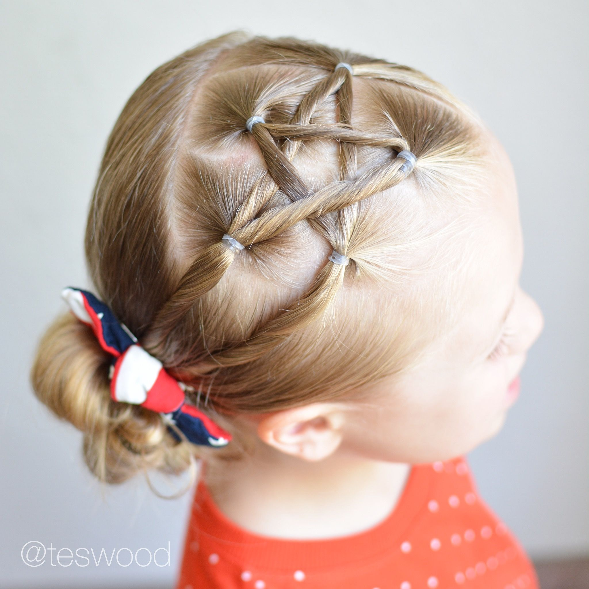 Fourth Of July Star Hairstyle Teswood Crazy Hair Days Little Girl Hairstyles Baby Hairstyles