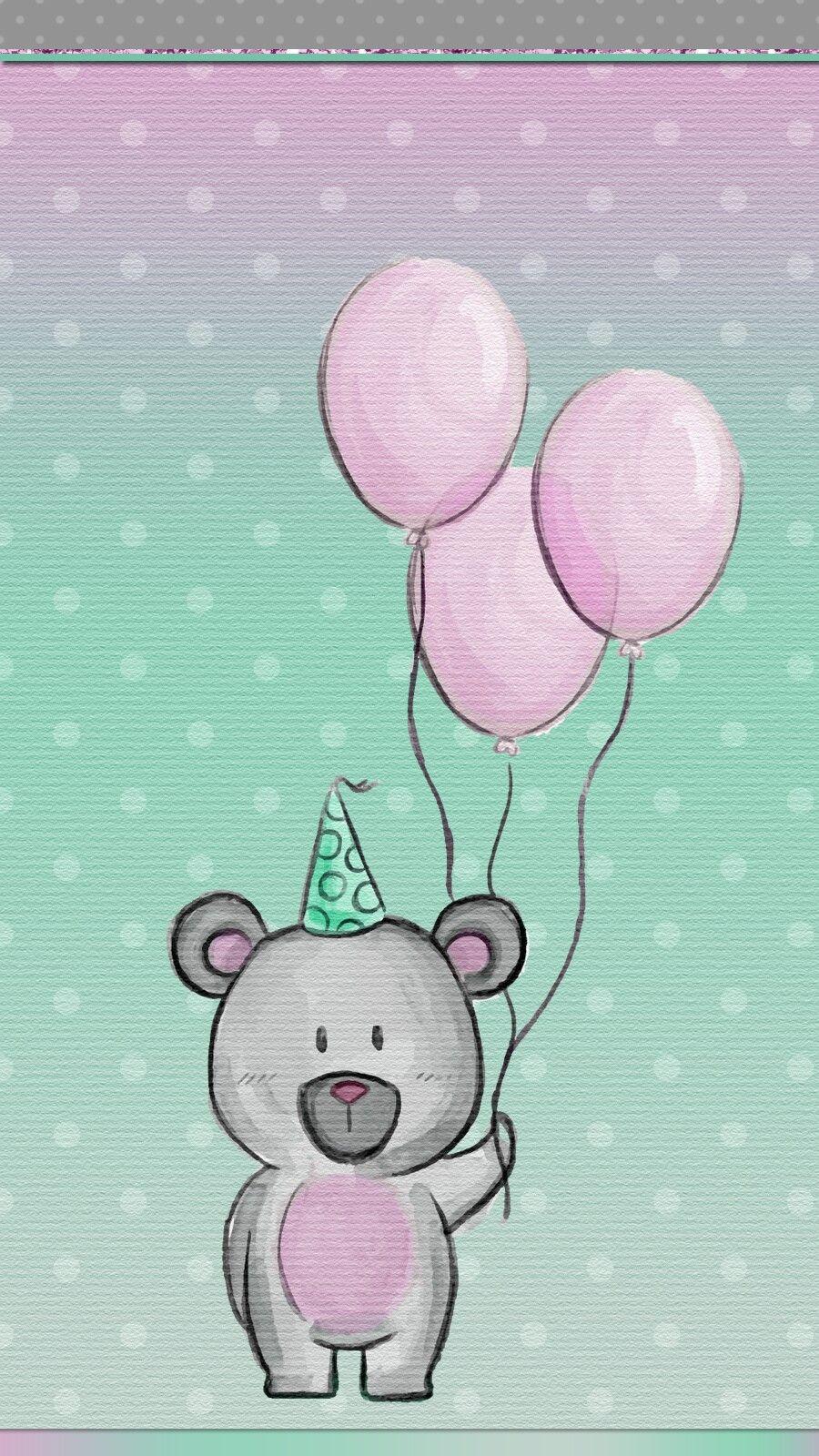Happy Birthday To Me Birthday Wallpaper Iphone Wallpaper Teddy Bear Wallpaper