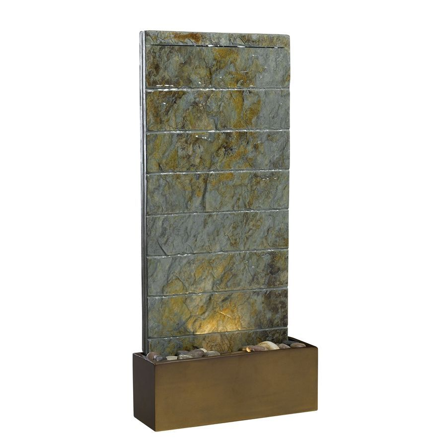 Shop Kenroy Home Brook Indoor Outdoor Fountain With Pump At Lowes