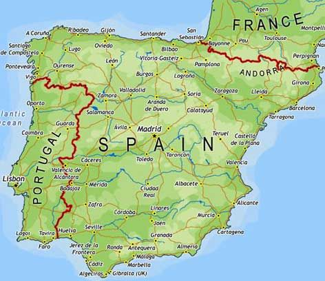 Map of Spain Some of the major cities are Madrid