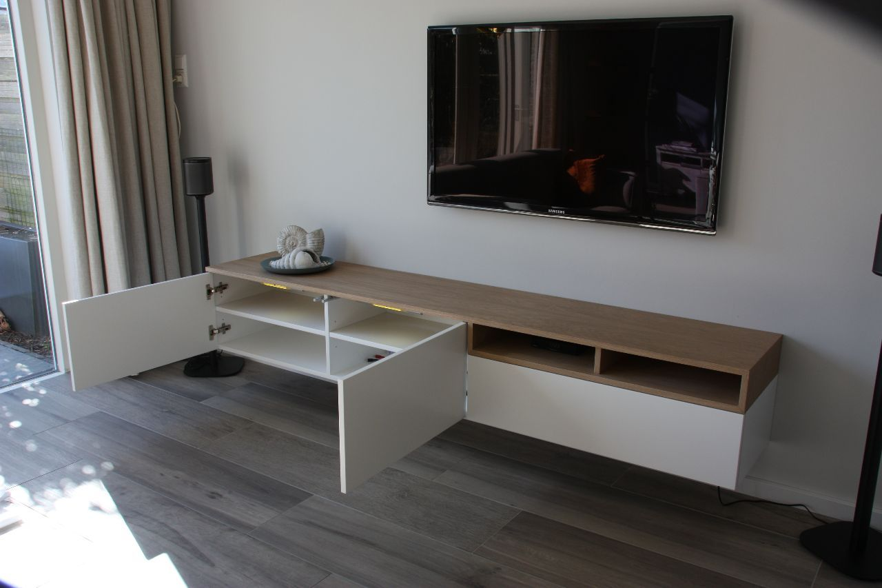 Tv Kast Wit Eiken.Tv Meubel Wit Eiken Lll Meubels Home Deco En Thuis