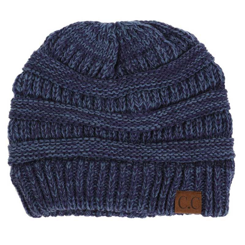 141138335 CC Marled Ribbed Knit Beanie in Blue YJ800-19-BLUE | Accessorize ...