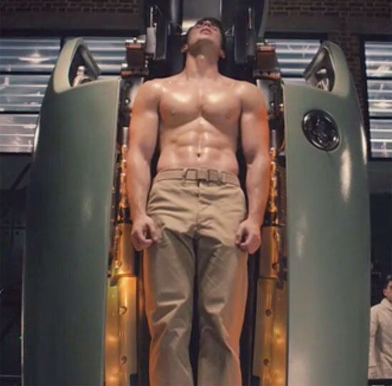 Captin America Chris Evans Shirtless Captain America Shirtless