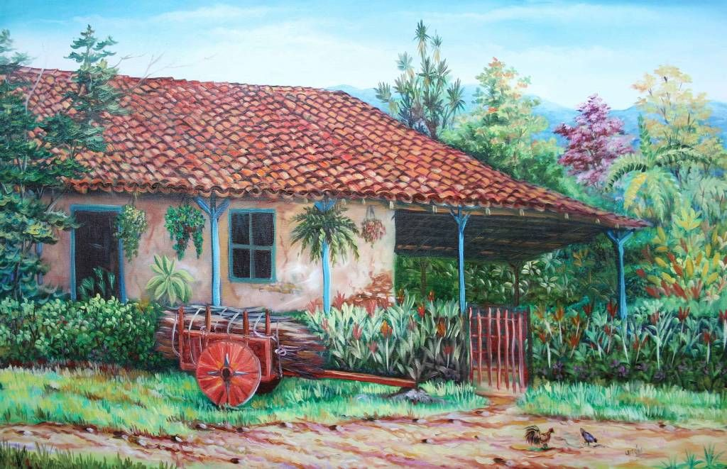 paisajes tipicos costarricenses en oleo - Buscar con ...
