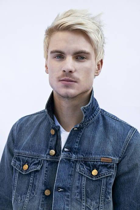 White blonde hair men