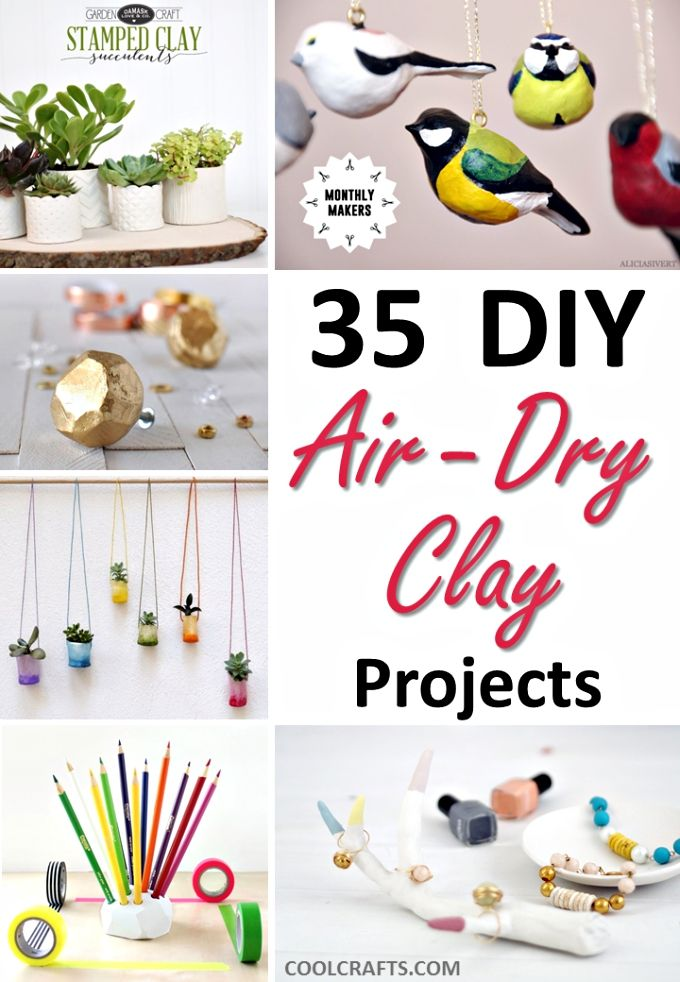 35 diy air dry clay projects that are fun easy air dry clay clay projects and clay. Black Bedroom Furniture Sets. Home Design Ideas
