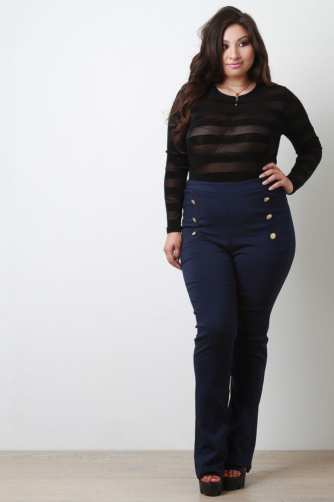 4aa7511a0df40 Plus Size High Waisted Pants