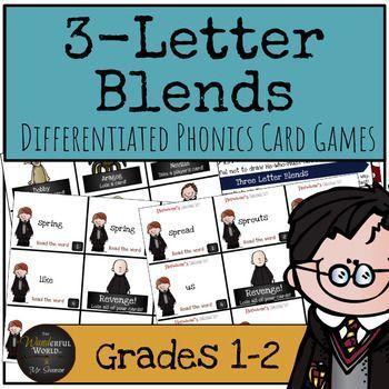 Salle de classe sur le thème de Harry Potter - Jeux de cartes phoniques à trois lettres