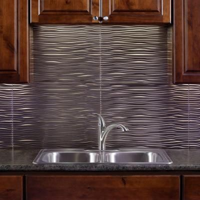 Decorative Tiles For Backsplash Fasade 24 Inx 18 Inwaves Pvc Decorative Tile Backsplash In
