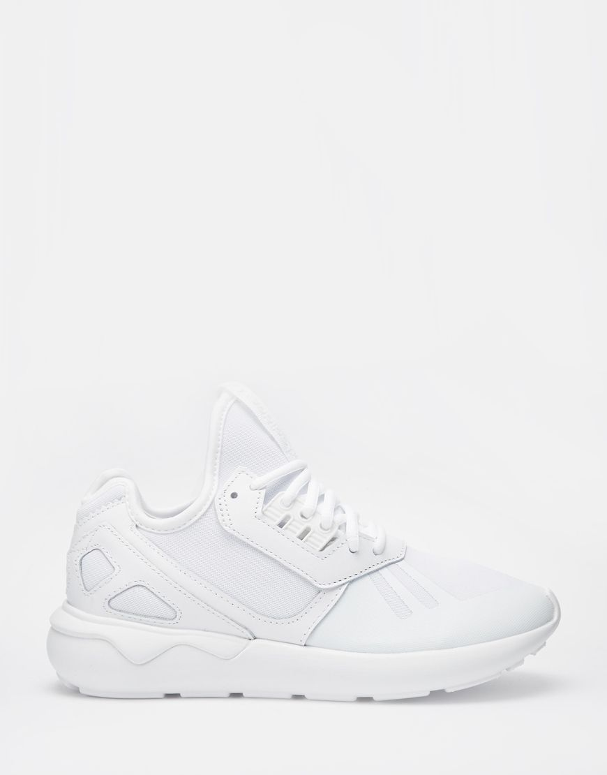 Adidas all white tubular