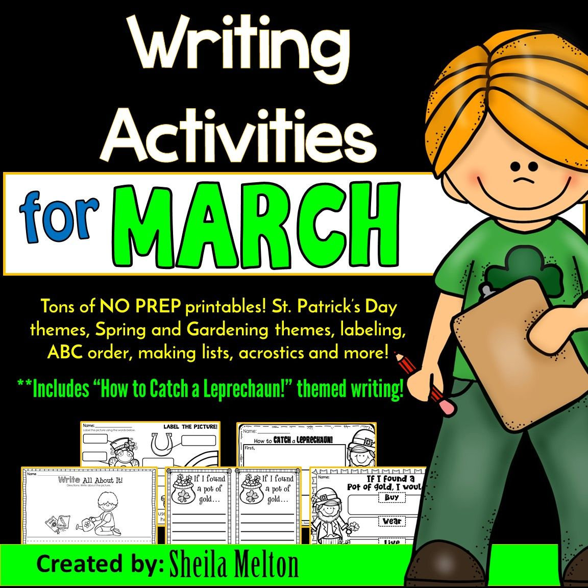 March Writing Activities Writing Center No Prep