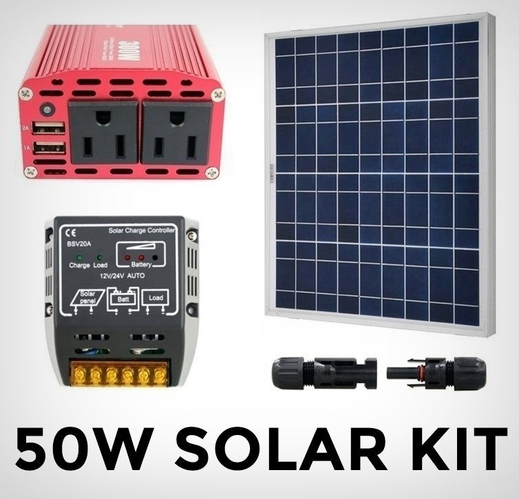 Solar Power Kit Complete System With Panel Solar Controller Inverter Outlets Home Garden Home Improveme Solar Power Kits Solar Power Charger Solar Kit