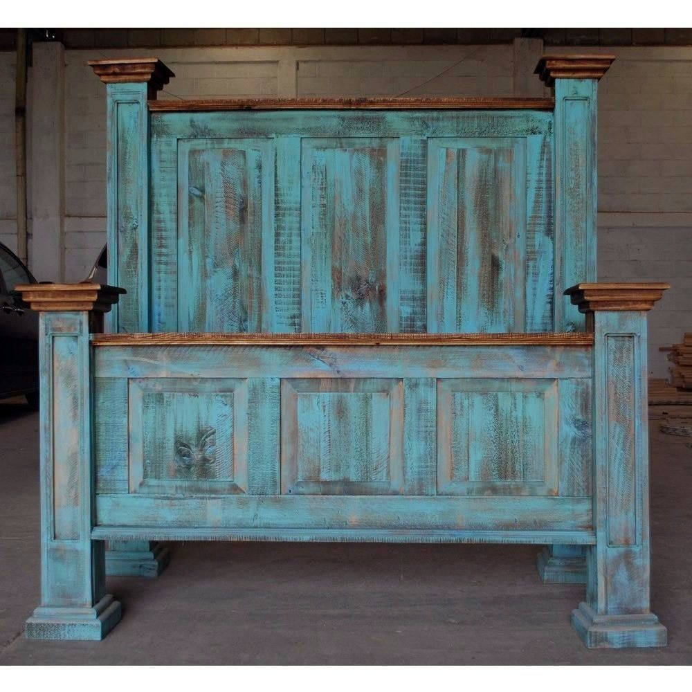Turquoise Distressed Bed Red Bedroom Design Bedroom Red Home