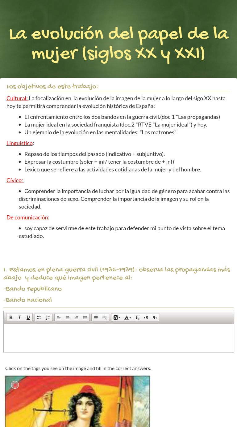 worksheet Acabar De Worksheet wizer me blended worksheet la del papel de mujer siglos