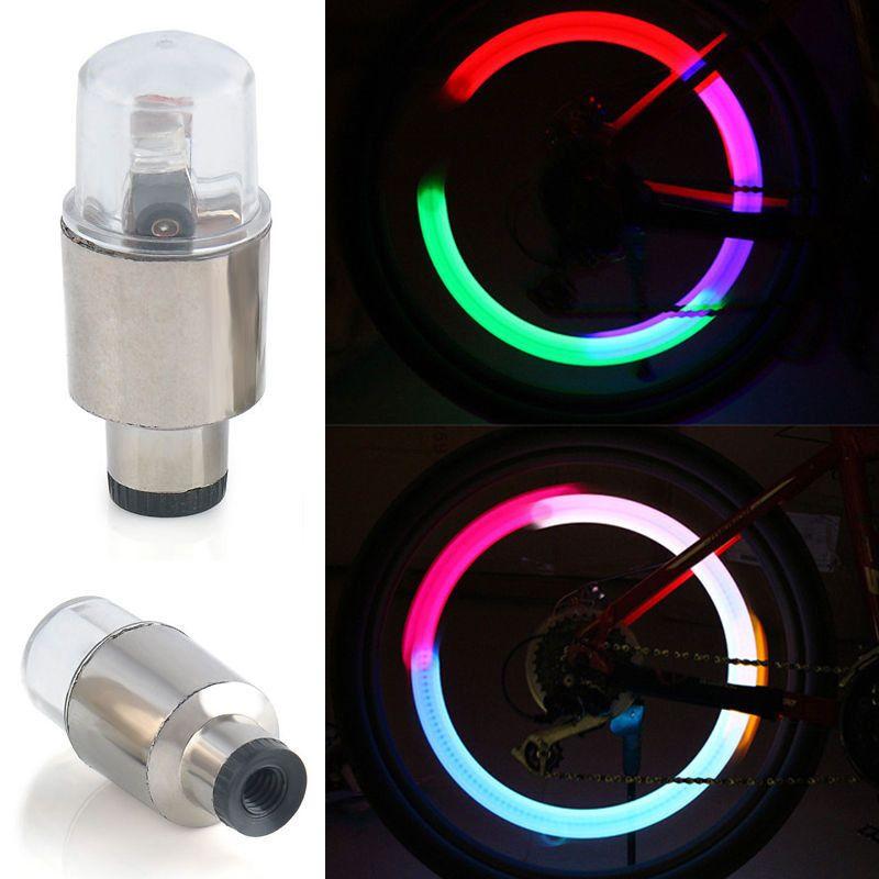 4 x LED Lamp Flash Tyre Wheel Valve Cap Light For Car Bike Bicycle Motorcycle AA