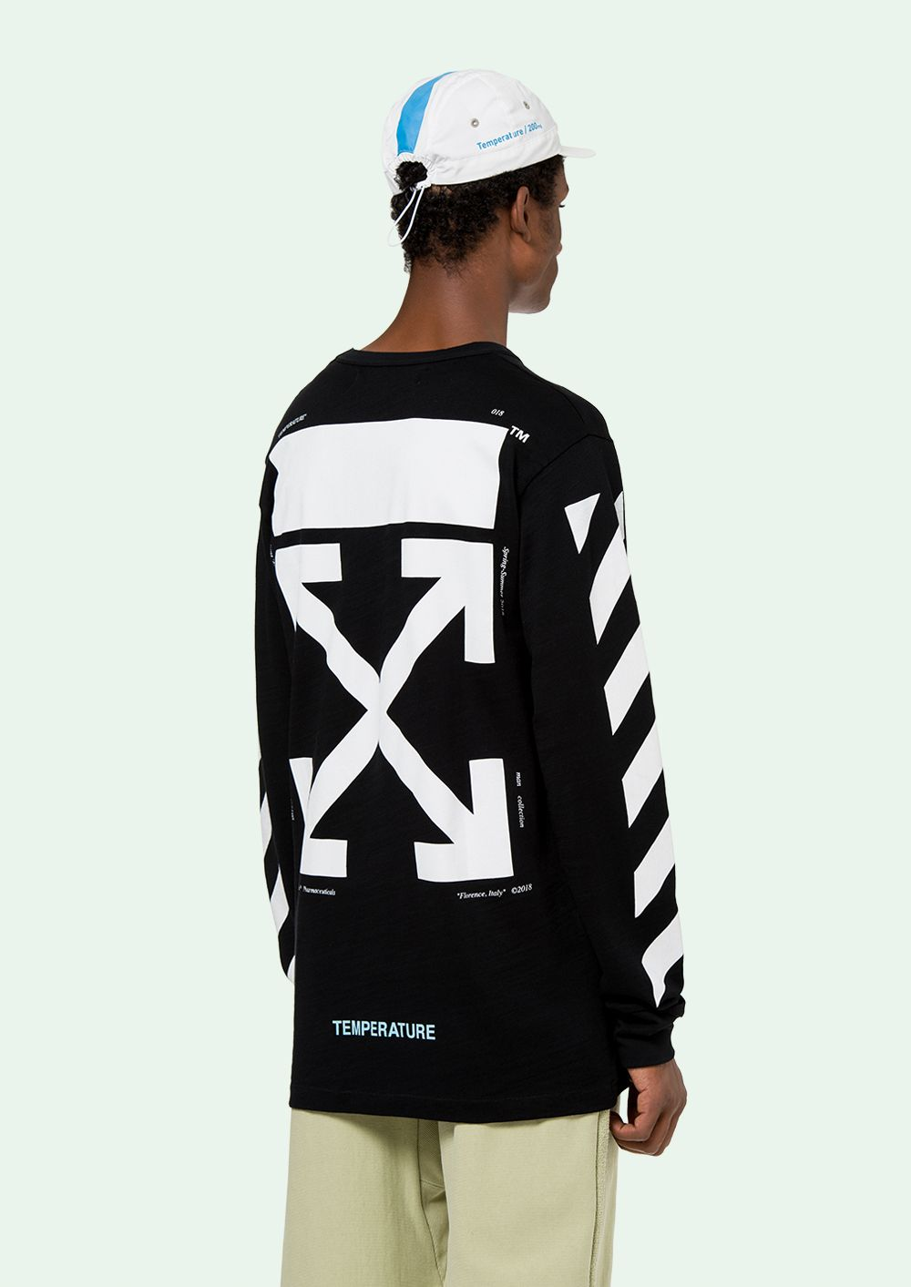 Off White T Shirt L S Offwhite Polos