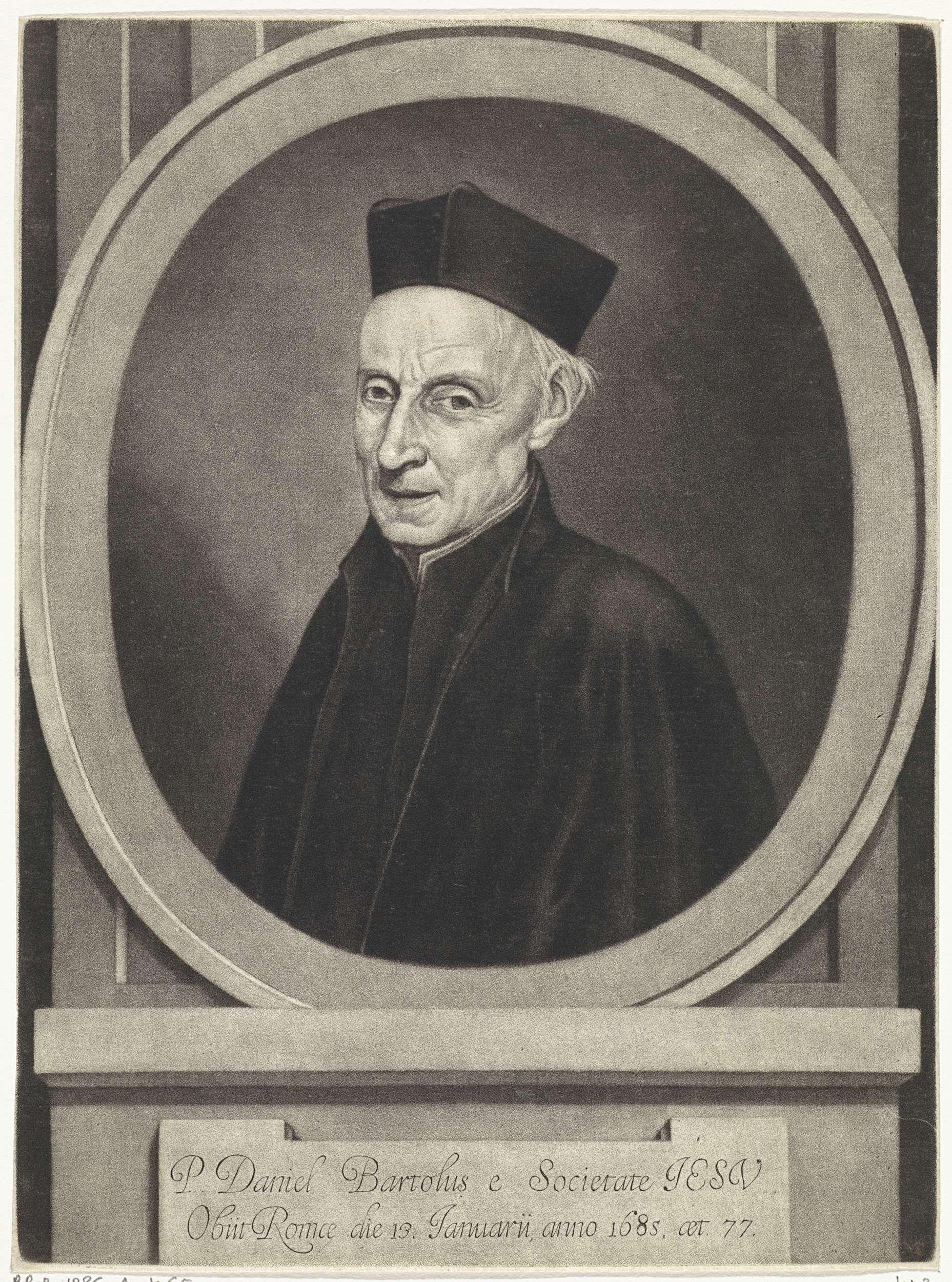 Jan van der Bruggen   Portret van Daniel Bartolus, Jan van der Bruggen, 1685   Portret van de geestelijke Daniel Bartolus op 77-jarige leeftijd.