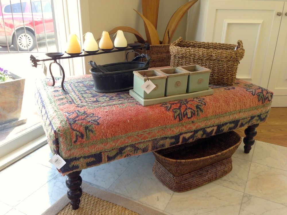 Oriental Rug Ottoman At Fraiche Upholstered Ottoman Coffee Table