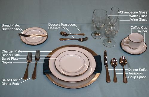 Table Setting Rentals Dinner Table Setting Formal Dinner Table